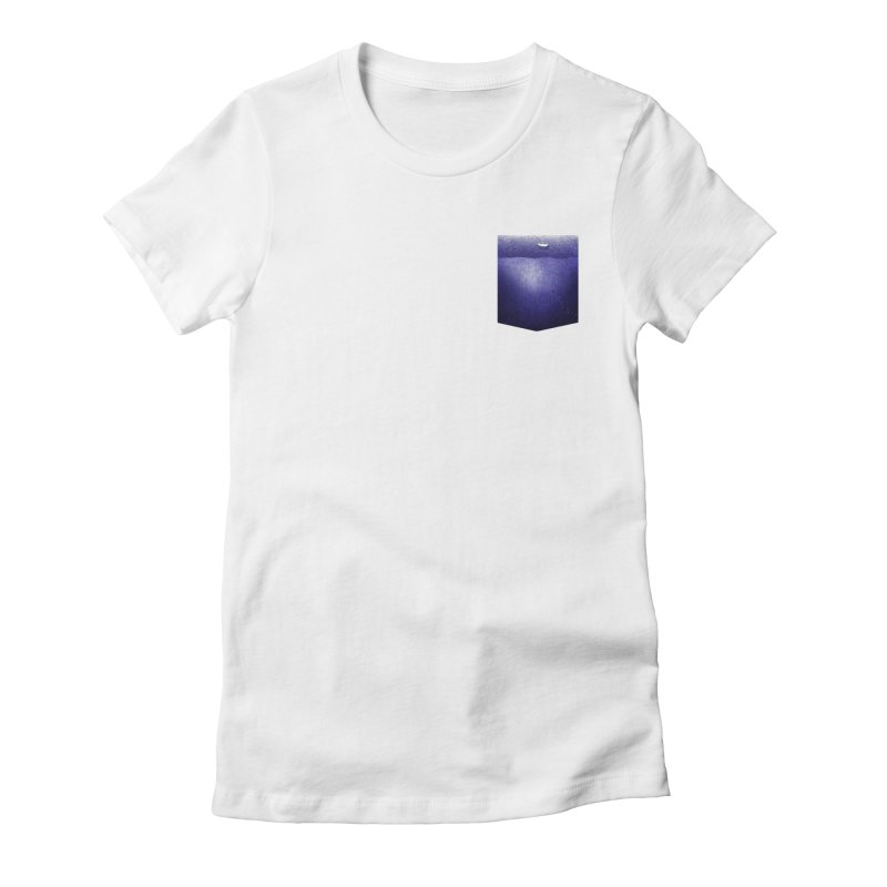fishing in the pocket Women's Fitted T-Shirt by ellagershon's Artist Shop