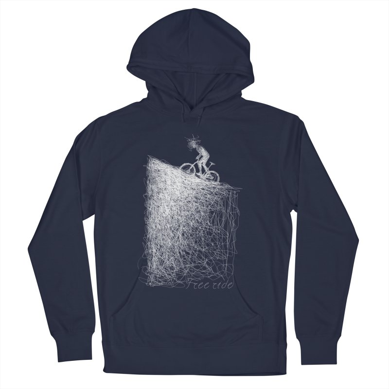 free ride - white Women's French Terry Pullover Hoody by ellagershon's Artist Shop