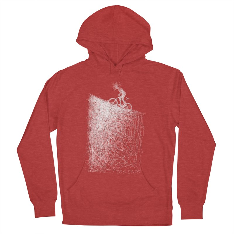 free ride - white Men's French Terry Pullover Hoody by ellagershon's Artist Shop