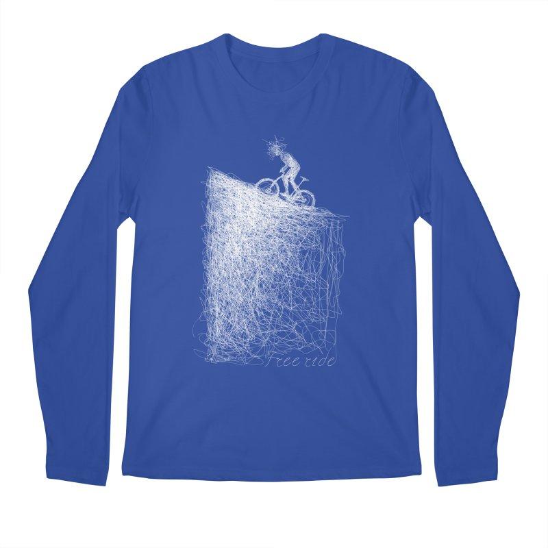 free ride - white Men's Longsleeve T-Shirt by ellagershon's Artist Shop