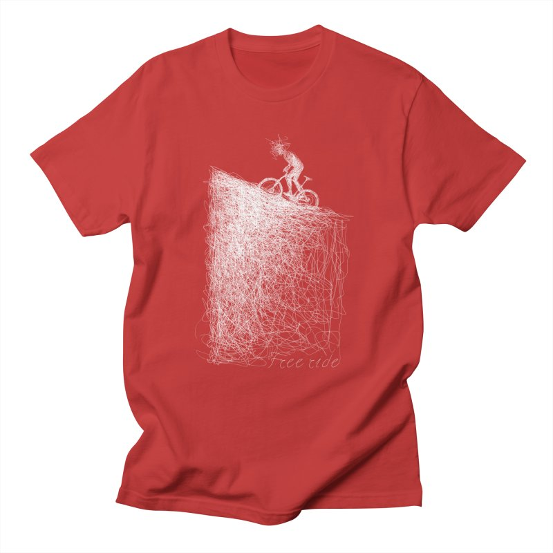 free ride - white Men's Regular T-Shirt by ellagershon's Artist Shop