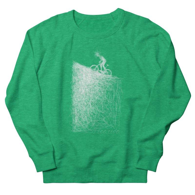 free ride - white Women's Sweatshirt by ellagershon's Artist Shop