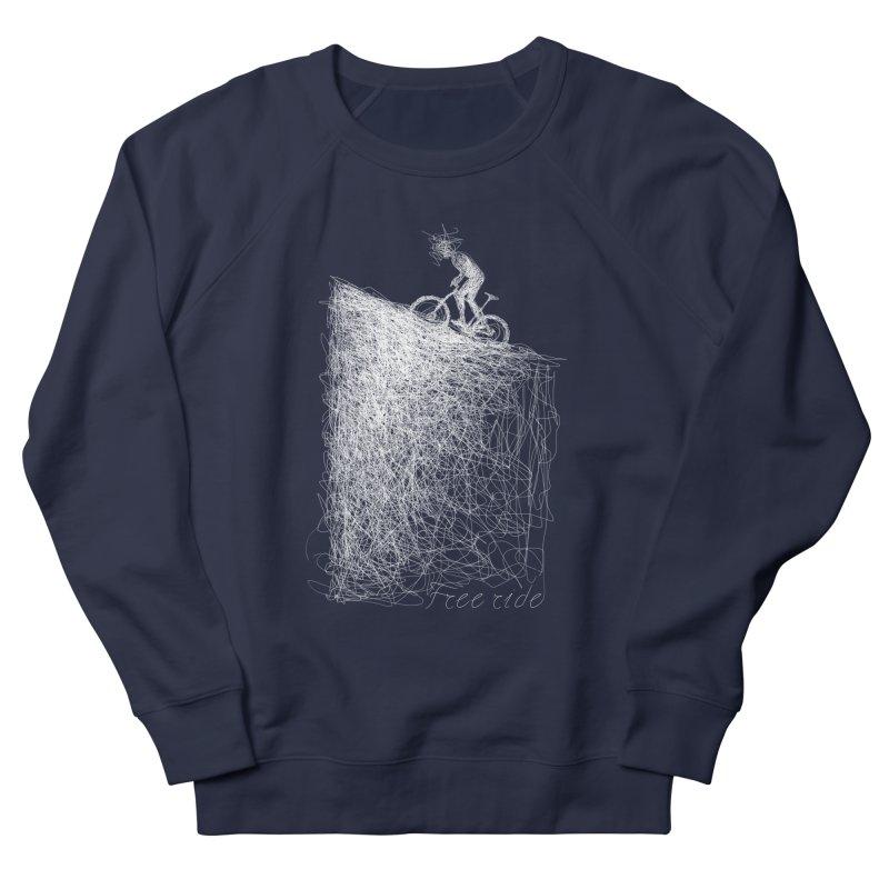 free ride - white Women's French Terry Sweatshirt by ellagershon's Artist Shop
