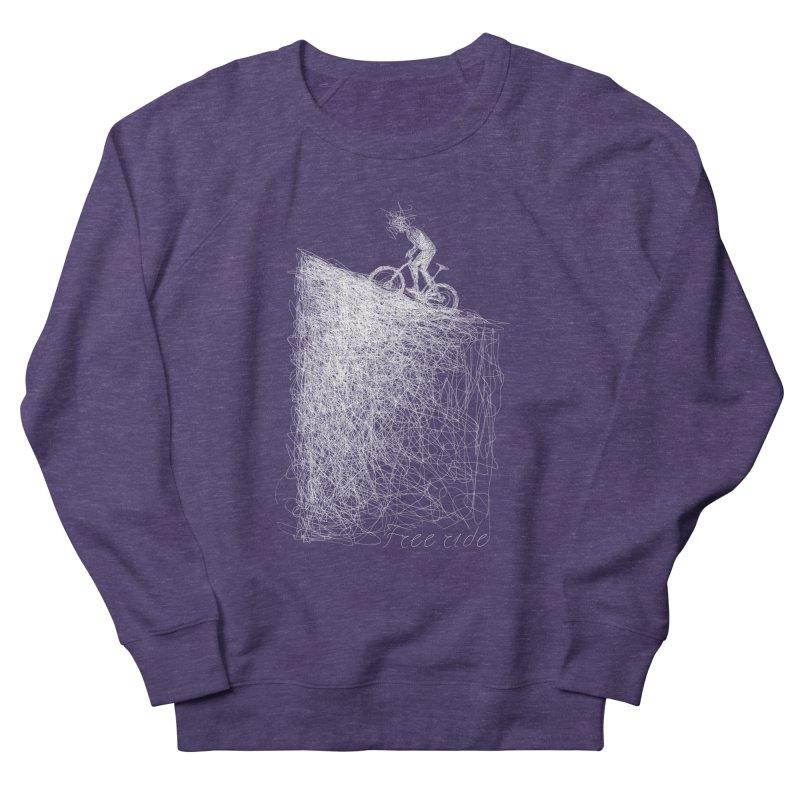 free ride - white Men's French Terry Sweatshirt by ellagershon's Artist Shop