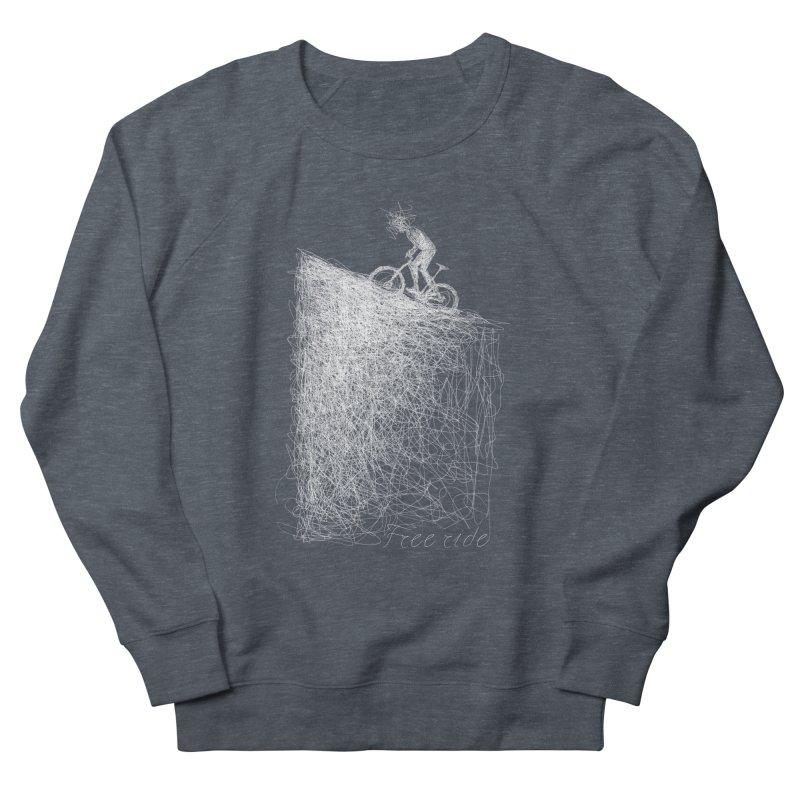 free ride - white Men's Sweatshirt by ellagershon's Artist Shop