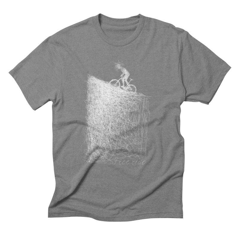 free ride - white Men's Triblend T-Shirt by ellagershon's Artist Shop