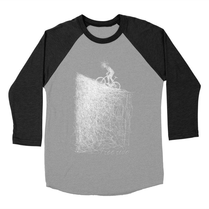 free ride - white Women's Baseball Triblend Longsleeve T-Shirt by ellagershon's Artist Shop