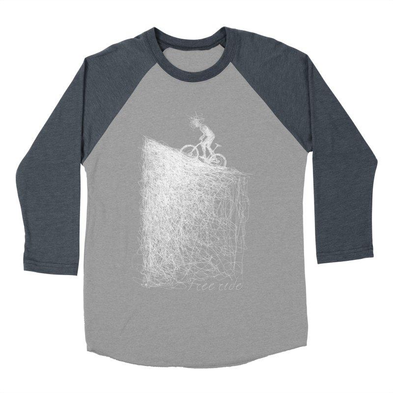 free ride - white Women's Baseball Triblend T-Shirt by ellagershon's Artist Shop
