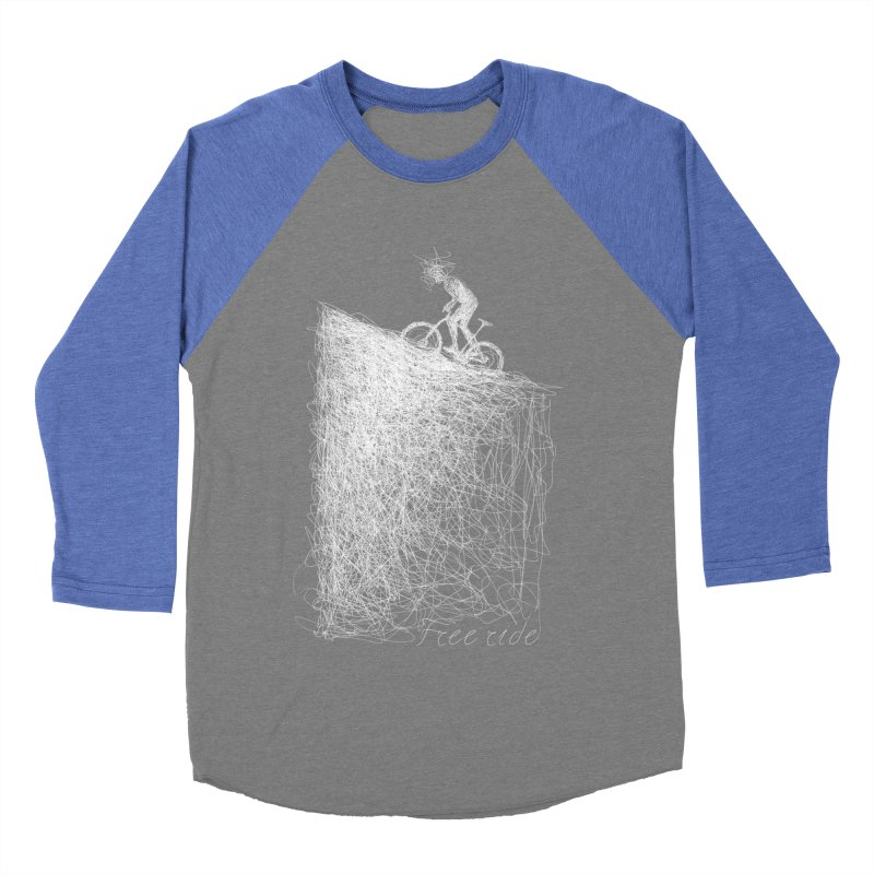 free ride - white Men's Baseball Triblend T-Shirt by ellagershon's Artist Shop