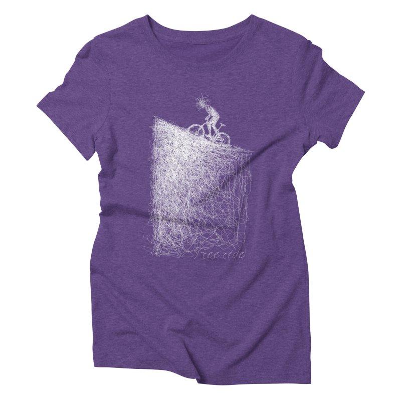 free ride - white Women's Triblend T-Shirt by ellagershon's Artist Shop
