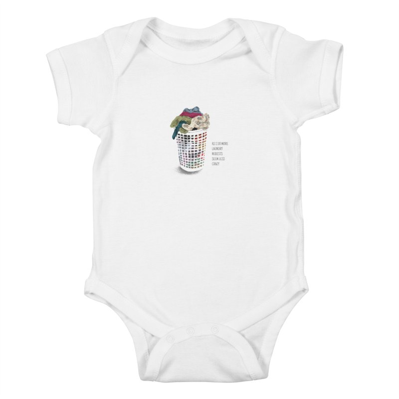 as i do more laundry nudists seem less crazy Kids Baby Bodysuit by ellagershon's Artist Shop