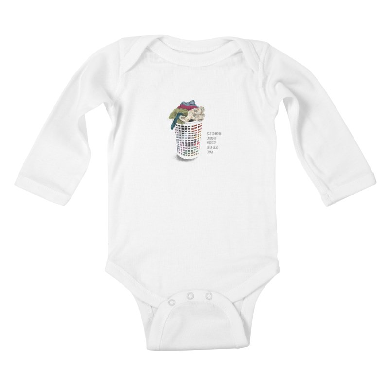 as i do more laundry nudists seem less crazy Kids Baby Longsleeve Bodysuit by ellagershon's Artist Shop