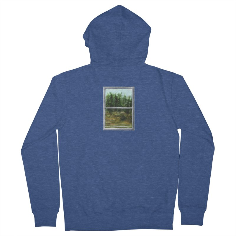 win view - speed Men's French Terry Zip-Up Hoody by ellagershon's Artist Shop