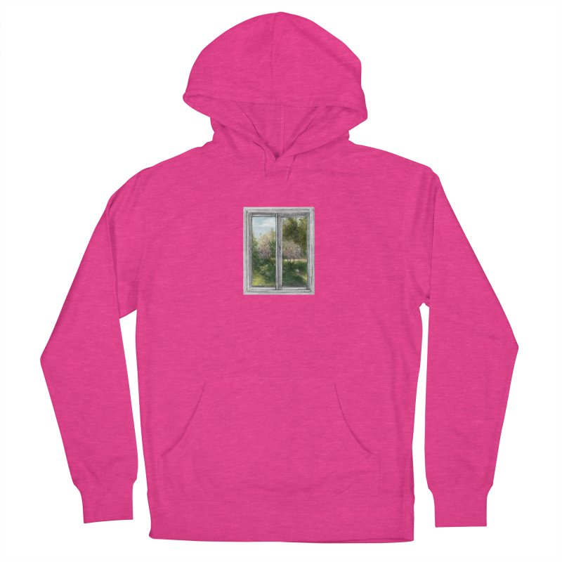 win view - spring Women's French Terry Pullover Hoody by ellagershon's Artist Shop