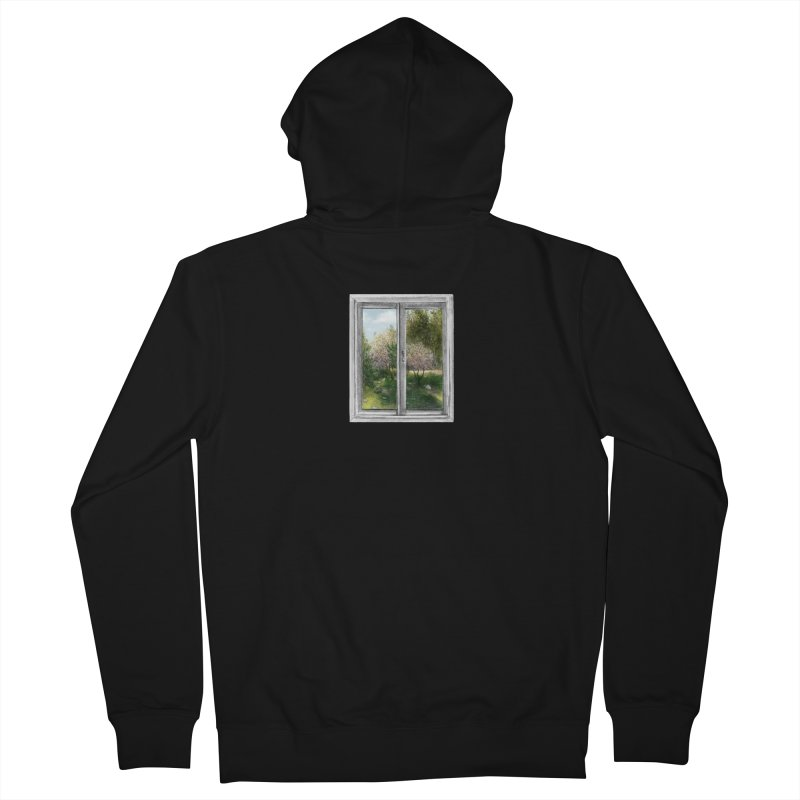 win view - spring Women's French Terry Zip-Up Hoody by ellagershon's Artist Shop
