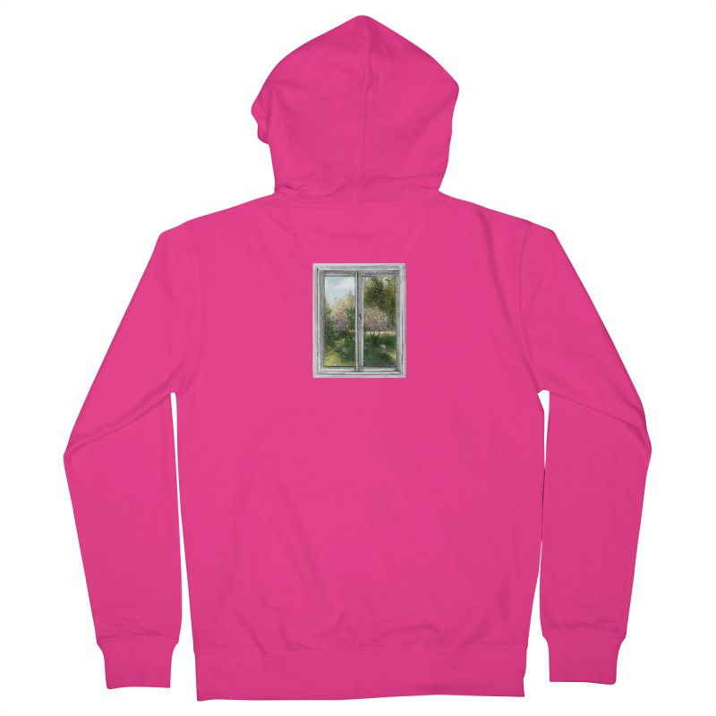 win view - spring Men's French Terry Zip-Up Hoody by ellagershon's Artist Shop