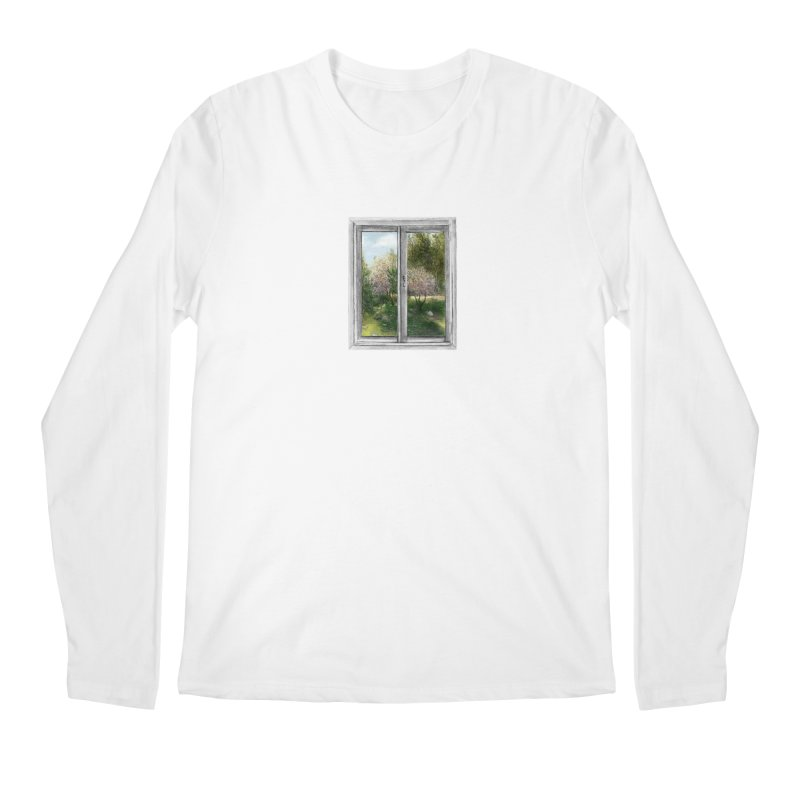 win view - spring Men's Longsleeve T-Shirt by ellagershon's Artist Shop