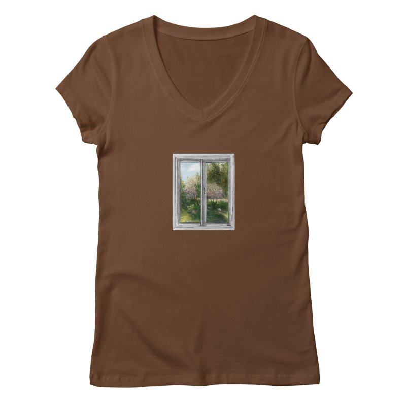 win view - spring Women's V-Neck by ellagershon's Artist Shop