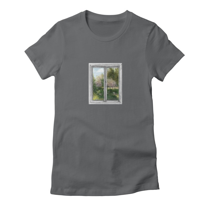 win view - spring Women's Fitted T-Shirt by ellagershon's Artist Shop