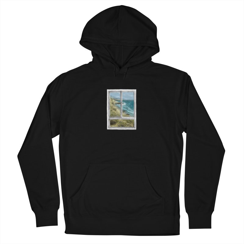 win view - sea Men's French Terry Pullover Hoody by ellagershon's Artist Shop