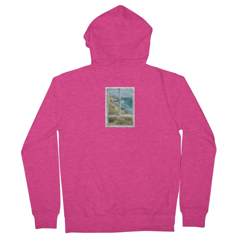 win view - sea Women's French Terry Zip-Up Hoody by ellagershon's Artist Shop