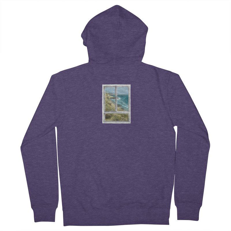 win view - sea Men's Zip-Up Hoody by ellagershon's Artist Shop