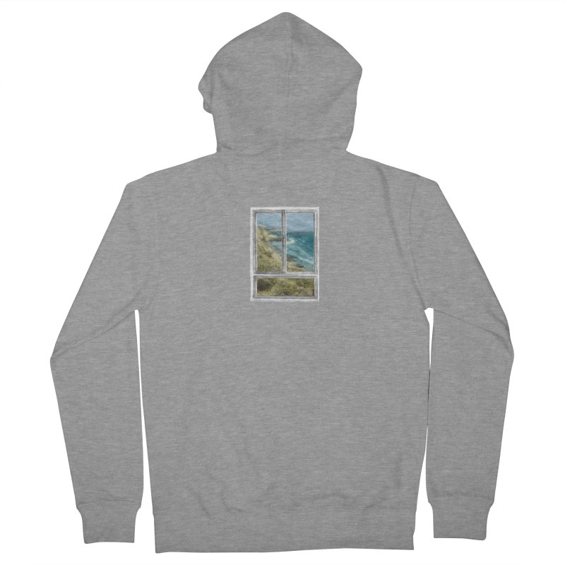 win view - sea Men's French Terry Zip-Up Hoody by ellagershon's Artist Shop