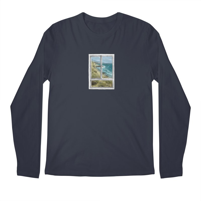 win view - sea Men's Regular Longsleeve T-Shirt by ellagershon's Artist Shop