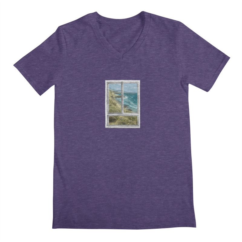 win view - sea Men's Regular V-Neck by ellagershon's Artist Shop