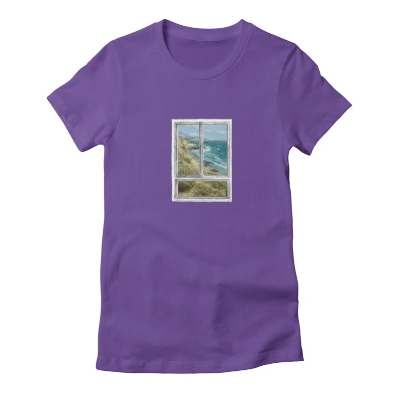 win view - sea Women's Fitted T-Shirt by ellagershon's Artist Shop