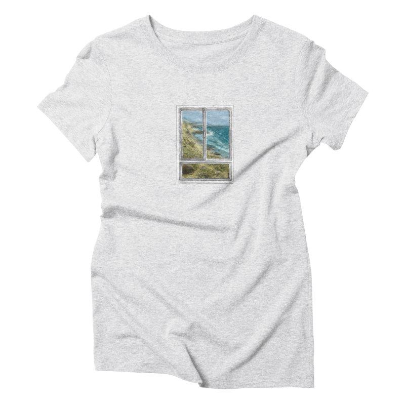 win view - sea Women's Triblend T-Shirt by ellagershon's Artist Shop