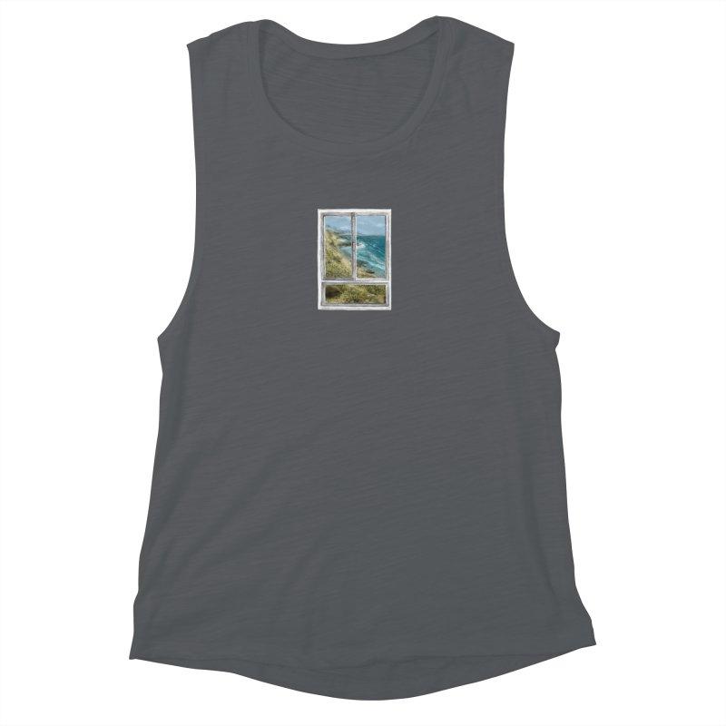 win view - sea Women's Muscle Tank by ellagershon's Artist Shop