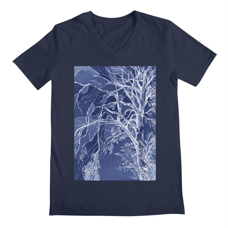 tree Fragments Men's Regular V-Neck by ellagershon's Artist Shop