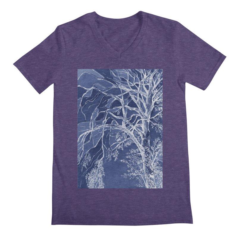 tree Fragments Men's Regular V-Neck by ellagershon's Artist Shop
