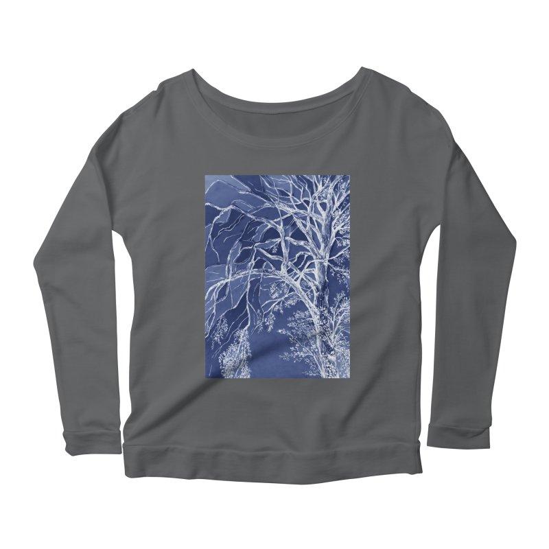 tree Fragments Women's Longsleeve Scoopneck  by ellagershon's Artist Shop