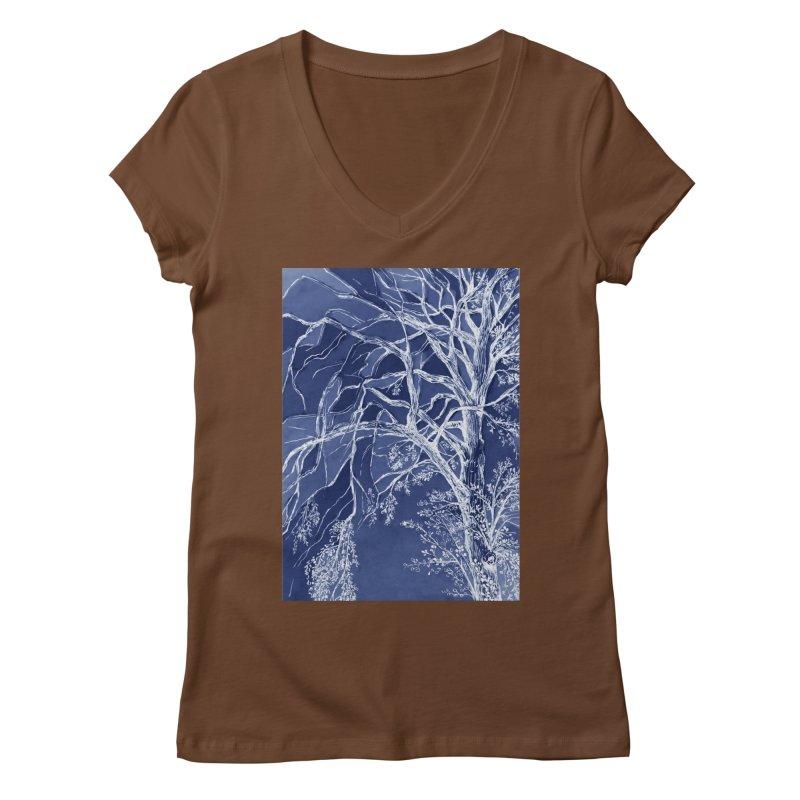 tree Fragments Women's Regular V-Neck by ellagershon's Artist Shop