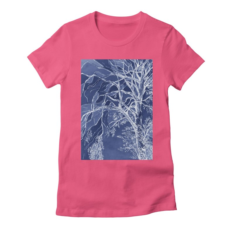 tree Fragments Women's Fitted T-Shirt by ellagershon's Artist Shop