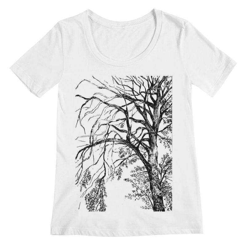 tree Women's Scoopneck by ellagershon's Artist Shop