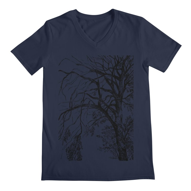 tree Men's Regular V-Neck by ellagershon's Artist Shop