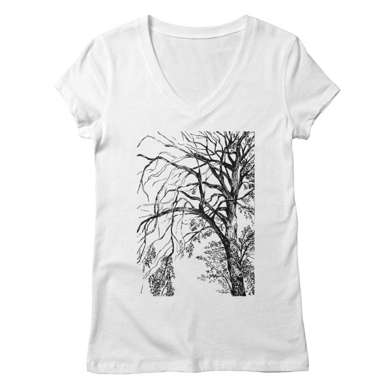 tree Women's Regular V-Neck by ellagershon's Artist Shop