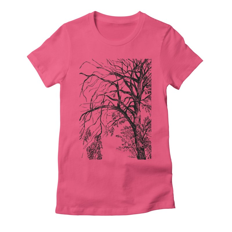 tree Women's Fitted T-Shirt by ellagershon's Artist Shop