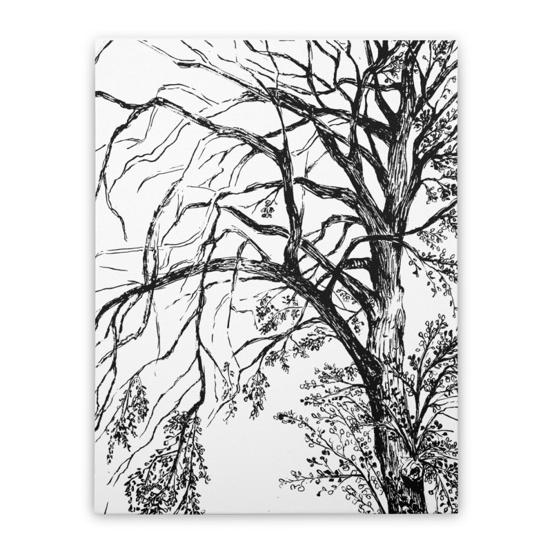 tree Home Stretched Canvas by ellagershon's Artist Shop