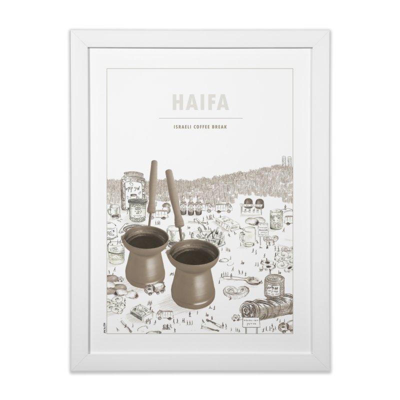 Israeli local food & places - Haifa - coffee break Home Framed Fine Art Print by ellagershon's Artist Shop
