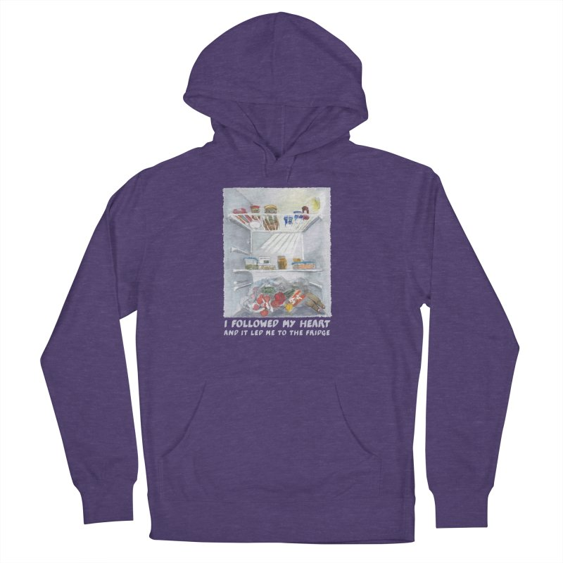I Followed My Heart  And It Led Me To The Fridge Men's Pullover Hoody by ellagershon's Artist Shop