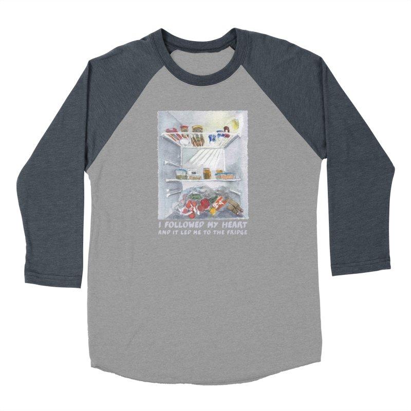 I Followed My Heart  And It Led Me To The Fridge Women's Baseball Triblend Longsleeve T-Shirt by ellagershon's Artist Shop