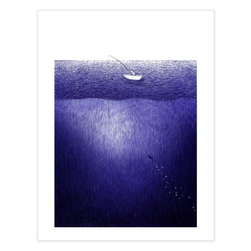 blue pen sea 1 Home Fine Art Print by ellagershon's Artist Shop