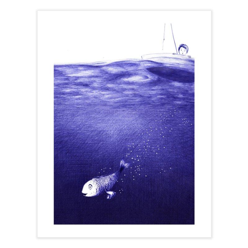 blue pen sea 2 Home Fine Art Print by ellagershon's Artist Shop