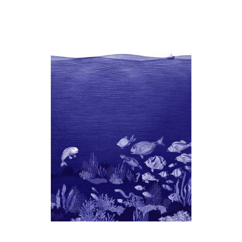 blue pen sea 3 by ellagershon's Artist Shop