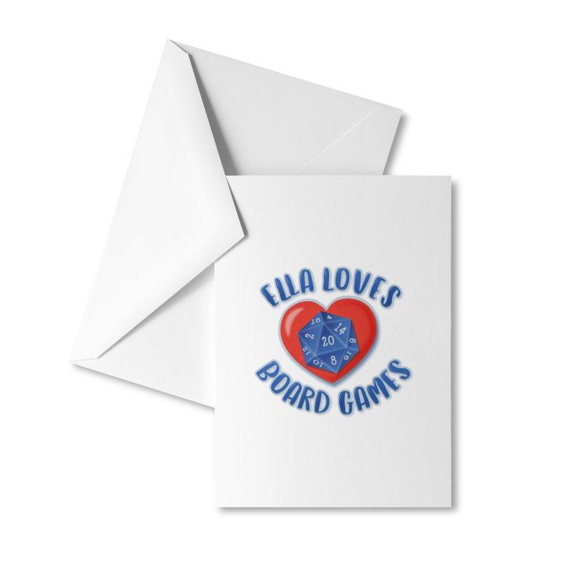Ella Loves Boardgames Accessories Greeting Card by ELLA LOVES BOARDGAMES