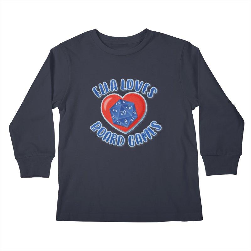 Ella Loves Boardgames Kids Longsleeve T-Shirt by ELLA LOVES BOARDGAMES
